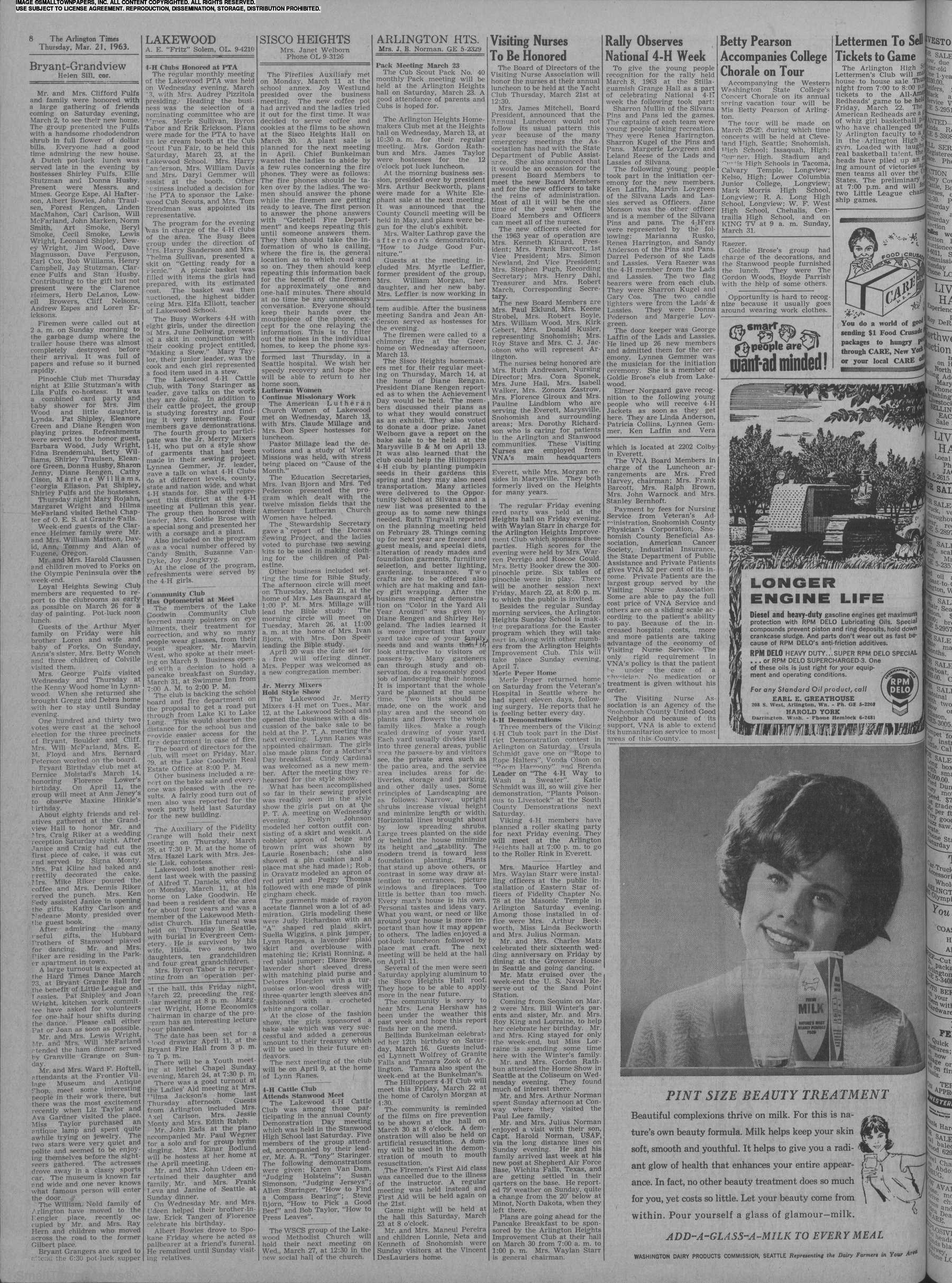 The Arlington Times March 21, 1963: Page 8